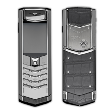 Vertu Signature S Design Stainless Steel Grey Crocodile Leather (Финляндия) фото