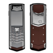 Vertu Signature S Design Stainless Steel Brown Leather (Финляндия)