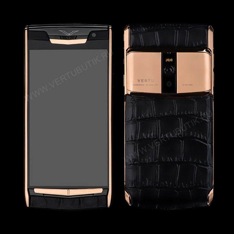 Новый Vertu Signature Touch Jet Gold Black Crocodile EXCLUSIVE фото