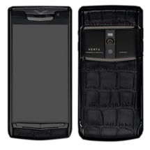 Новый Vertu Signature Touch Pure Black Black Crocodile EXCLUSIVE