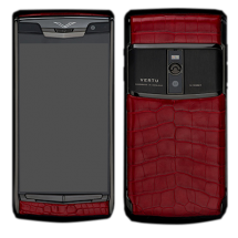 Новый Vertu Signature Touch Pure Black Red Crocodile EXCLUSIVE