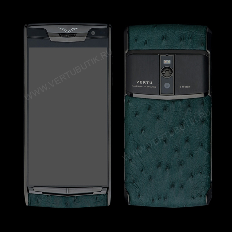 Новый Vertu Signature Touch Pure Black Green Ostrich EXCLUSIVE фото