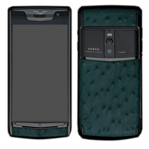 Новый Vertu Signature Touch Pure Black Green Ostrich EXCLUSIVE