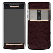Новый Vertu Signature Touch Steel Gold Vine Ostrich Leather EXCLUSIVE