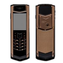 Vertu Signature S Design Cloud De Paris Gold Black Leather