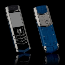 Vertu Signature S Design Steel Navy Ostrich EXCLUSIVE