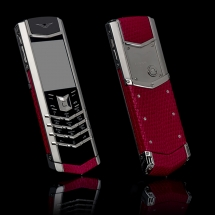Vertu Signature S Design Steel Red Iguana Leather (ENG)