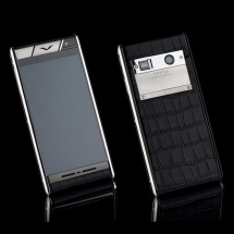 Vertu Aster Stainless Steel Black Crocodile EXCLUSIVE