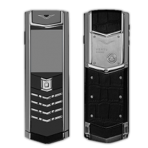 Vertu Signature S Design Stainless Steel Ultimate Black Crocodile Leather (Финляндия)