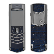 Vertu Signature S Design Stainless Steel Dark Blue Crocodile Leather (Финляндия)