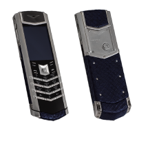 Vertu Signature S Design Steel Dark Blue Piton EXCLUSIVE