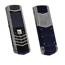Vertu Signature S Design Steel Dark Blue Crocodile EXCLUSIVE