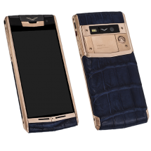 Vertu Signature Touch Gold Navy Alligator EXCLUSIVE