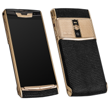 Новый Vertu Signature Touch Clous De Paris Gold Black Iguana EXCLUSIVE