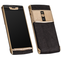 Новый Vertu Signature Touch Clous De Paris Gold Brown Iguana EXCLUSIVE