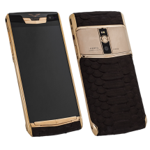 Новый Vertu Signature Touch Steel Gold Brown Piton Exclusive фото