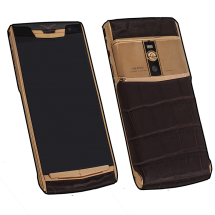 Новый Vertu Signature Touch Gold Brown Crocodile Exclusive фото