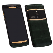 Новый Vertu Signature Touch Pure Black Gold Green Crocodile Exclusive