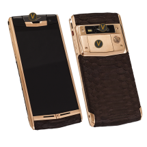 Vertu Signature Touch Gold Brown Piton Leather EXCLUSIVE