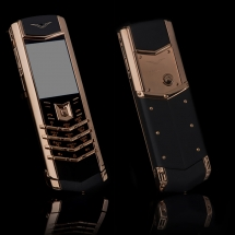 Vertu Signature S Design Yellow Gold Black Leather