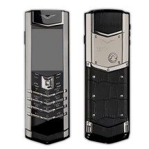 Vertu Signature S Design Stainless Steel Black Crocodile Leather (Финляндия)