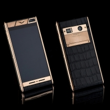 Vertu Aster Gold Black Alligator EXCLUSIVE