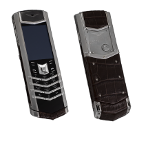 Vertu Signature S Design Steel Brown Crocodile EXCLUSIVE