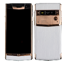 Vertu Signature Touch Gold White Crocodile Leather EXCLUSIVE