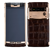 Vertu Signature Touch Gold Brown Crocodile Leather EXCLUSIVE