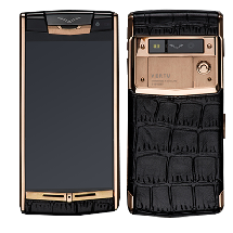 Vertu Signature Touch Gold Black Crocodile Leather EXCLUSIVE