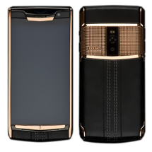 Новый Vertu Signature Touch Clous De Paris Gold Jet Calf EXCLUSIVE
