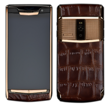 Новый Vertu Signature Touch Clous De Paris Gold Brown Alligator EXCLUSIVE