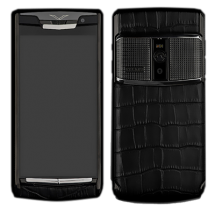 Новый Vertu Signature Touch Clous De Paris Pure Black Alligator EXCLUSIVE