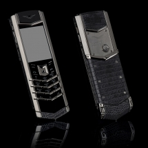 Vertu Signature S Design Steel Grey Iguana Leather (ENG)