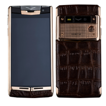 Vertu Signature Touch Gold Brown Alligator EXCLUSIVE